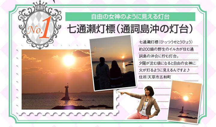 灯台勝手にランキング: No.1 七通瀬(ひっつせ)灯標(通詞島沖の灯台)