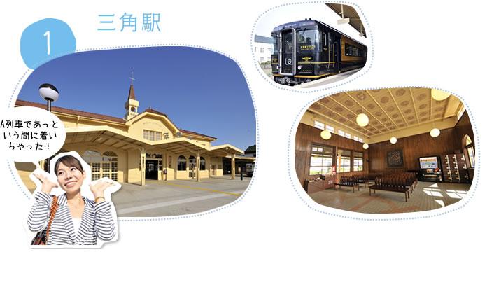 1.三角駅