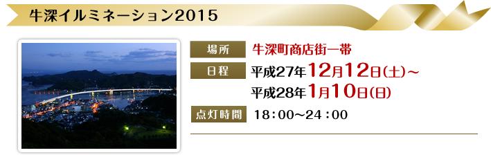 [牛深イルミネーション2015] 2015年12月12日~2016年1月10日18:00~24:00/牛深商店街一帯