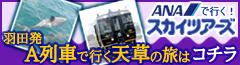 ANAで行く!スカイツアーズ 羽田発A列車で行く天草の旅はコチラ
