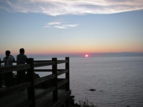 展望台からの夕陽2