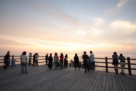 展望台からの夕陽(別日)