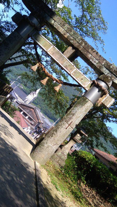 崎津諏訪神社から